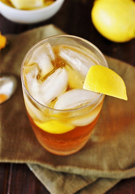 Glass of Southern Sweet Tea on Ice Image
