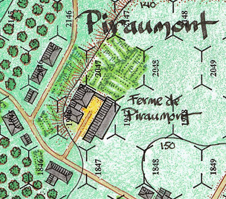 Piraumont Farm from the boardgame Incredible Courage - 100 Days: Quatre Bras published by Grognard Simulations Inc.