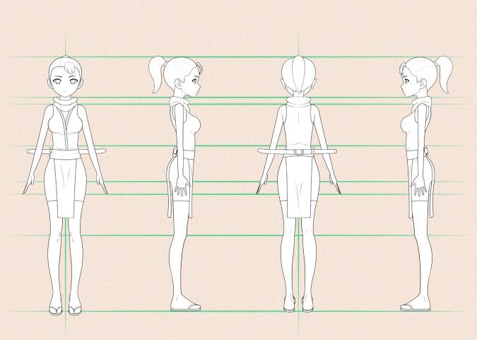 Desain karakter manga atau anime