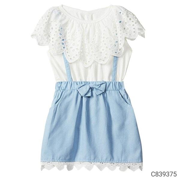 Girls Printed/Solid/Checks/Striped Dresses