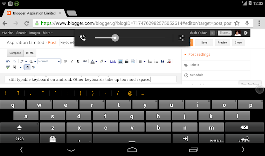 Keyboards on Android