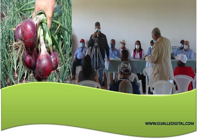 MINISTRO DE AGRICULTURA SOSTUVO ENCUENTRO CON PRODUCTORES DE VALLEJUELO; FIJAN PRECIO A LAS CEBOLLAS