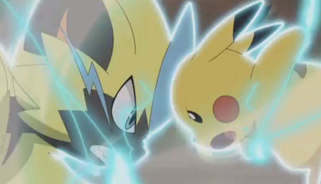 pikachu-zeraora-battle