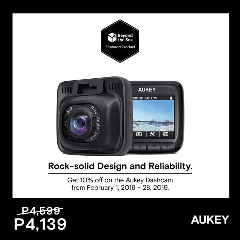 Aukey 170-degree 1080p dash cam