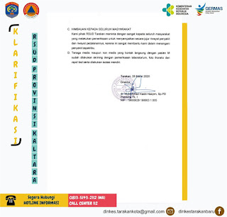 Press Release COVID-19 Tarakan 28 Maret 2020 - Tarakan Info