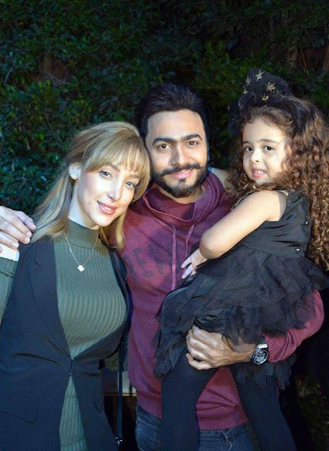 صور بنات تامر حسني 2018 , احدث صور تامر حسني وبنته وزوجته