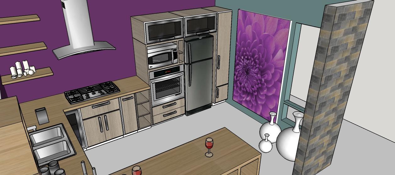 Cocina con isla desayunador mi casa mi plano for Mi cocina plano