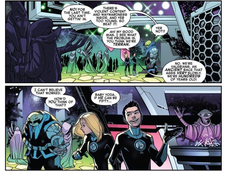 Малыш Йода теперь официально существует в комиксах Marvel - Дитя упомянули в «Фантастической четвёрке» - 01