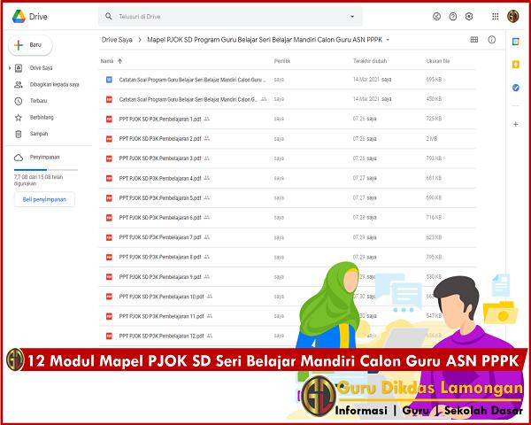 12 Modul Mapel PJOK SD Seri Belajar Mandiri Calon Guru ASN PPPK