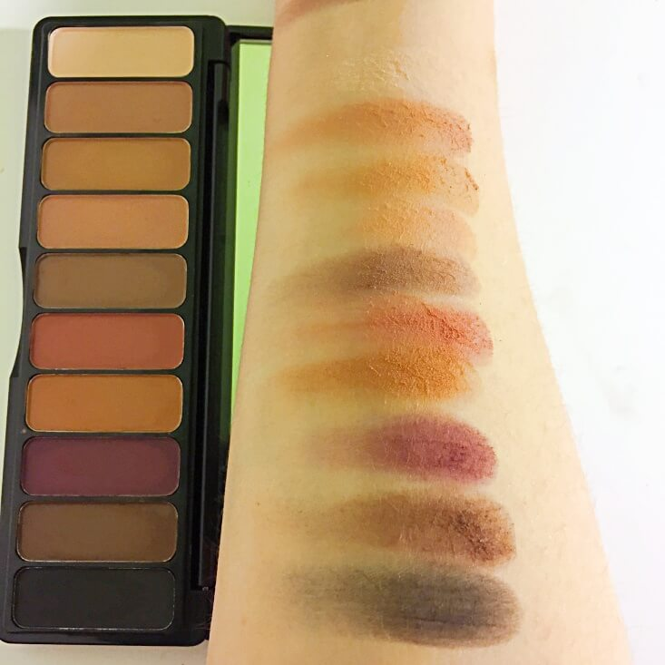 e.l.f. Mad for Matte Eyeshadow Palette Summer Breeze swatch