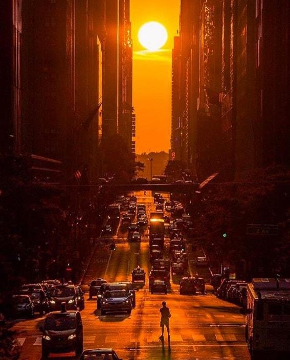 Atardecer en Manhattanhenge. 5 atardeceres inolvidables