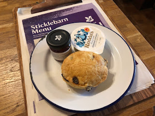 Sticklebarn National Trust scone
