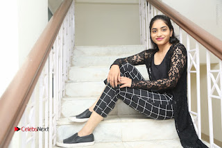 Actress Punarnavi Bhupalam Stills in Black Dress at Pittagoda Press Meet  0184.JPG
