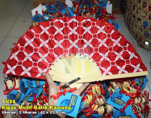 Kipas Motif Batik Kawung