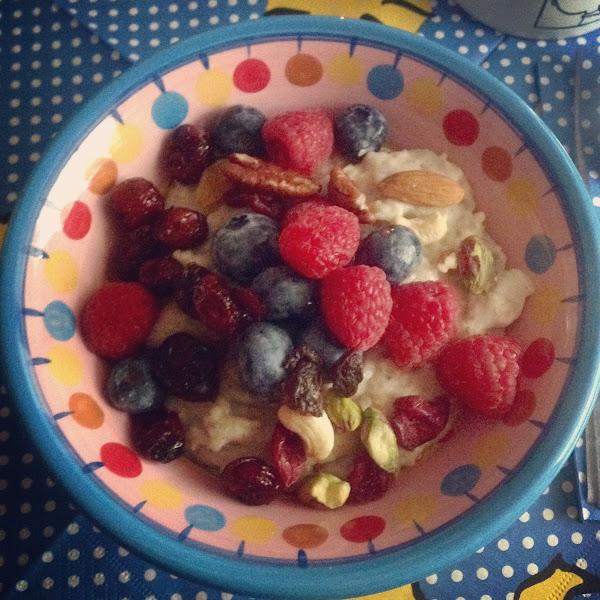 Porridge mit Birne und Cashews