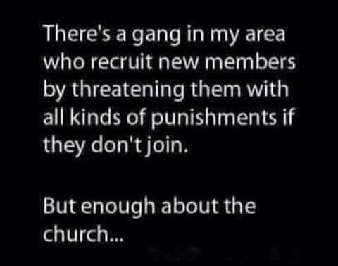 Funny Church Gangsters Meme Religious Joke Picture