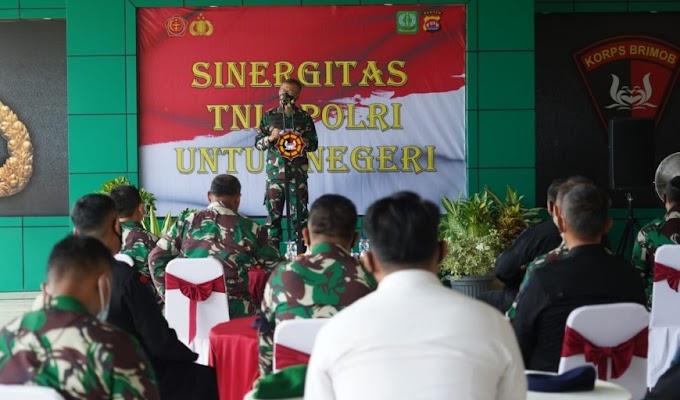 Wujudkan Sinergitas TNI-Polri, Danrem 064/MY Kunjungi Makosat Brimob Polda Banten