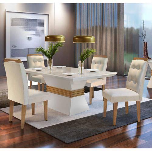Conjunto Sala de Jantar Mesa 4 Cadeiras
