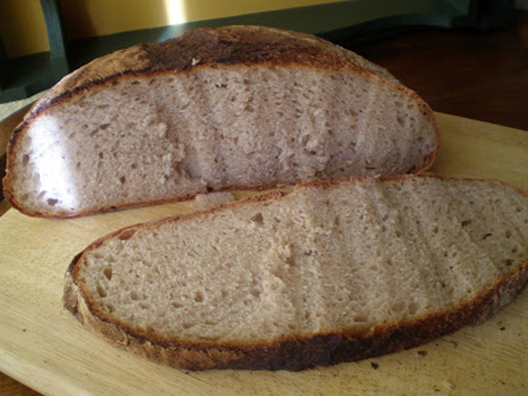pan rustico de harina integral y centeno hogaza como hacer pan la cocinera novata