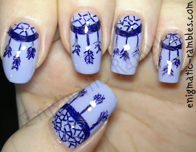 dream-catcher-freehand-nail-nails-art-purple-sharpie-gel-pen