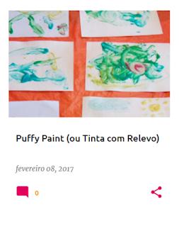 Como fazer em casa Puffy Paint