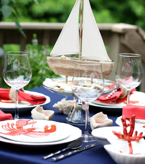 Nautical Lobster Dinner Party