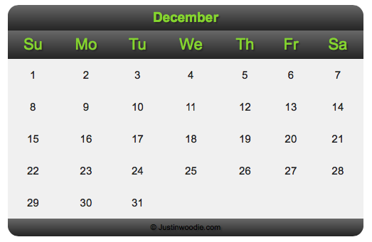 Calendar Design Html Css : How to create a smooth html calendar styled with css