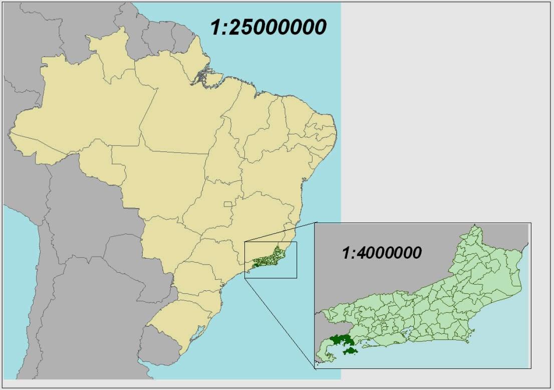 mapa com escala Geografía Ciclo Básico: Elementos del mapa mapa com escala