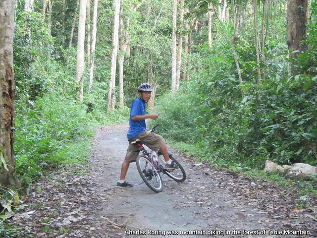 Charles Roring was mountain biking in Table Mountain of Manokwari