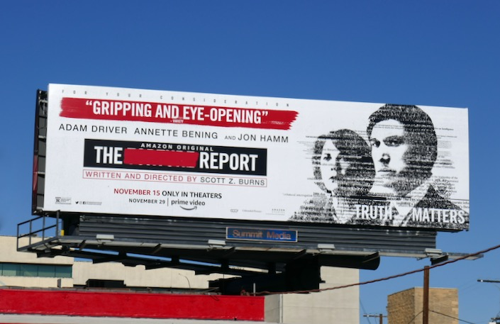 Report movie billboard