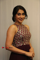 Actress Regina Candra Latest Stills in Maroon Long Dress at Saravanan Irukka Bayamaen Movie Success Meet .COM 0020.jpg