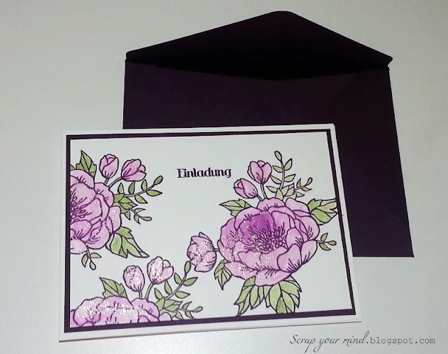 Geburtstagsblumen-Einladung