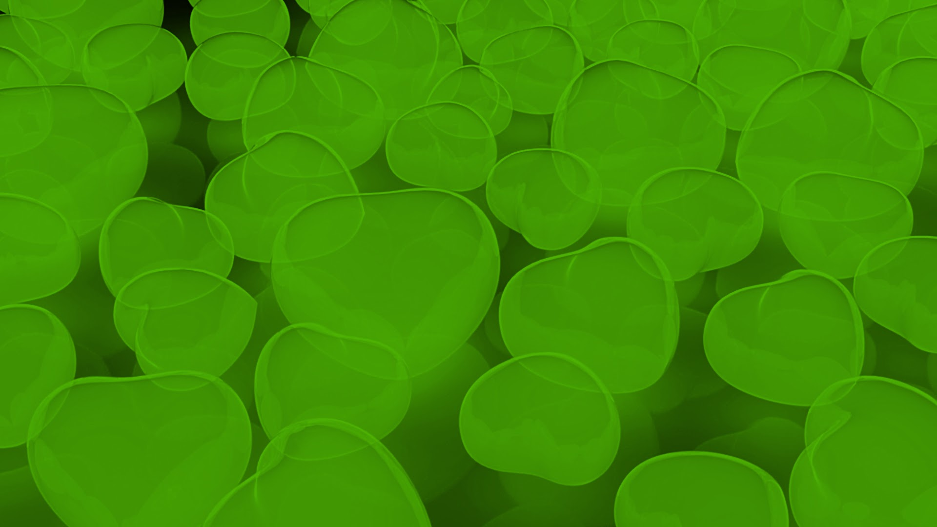 Green Neon Hearts Free Background