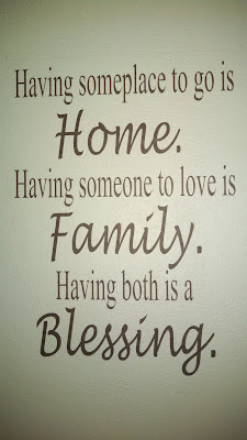 """Home, Family, Blessing"" Wall Graphic 