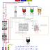 دائرة تشغيل مضخة غاطسة 220 فولط مع جهاز لقياس منسوب المياه relais de niveau