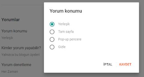 Yorum Konumu