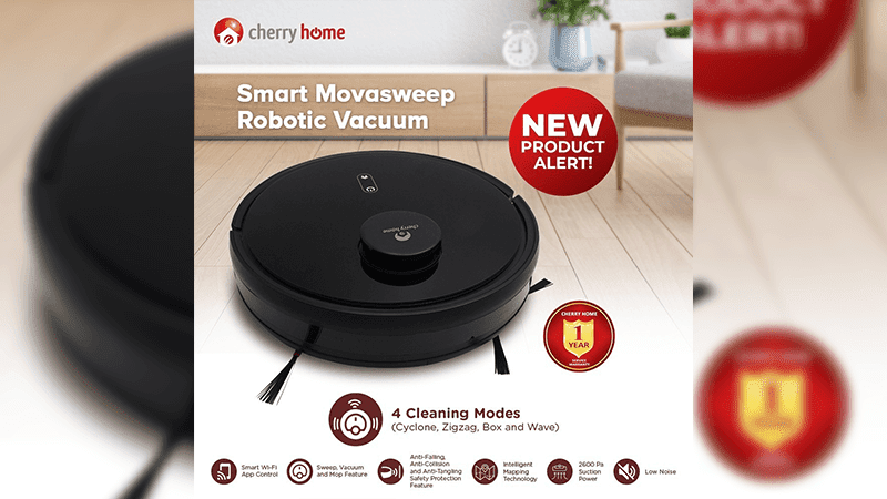 Cherry Home announces the Movasweep Robotic Vacuum—priced at PHP 13,999
