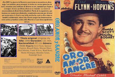 Carátula dvd: Virgina City (1940) Oro, amor y sangre