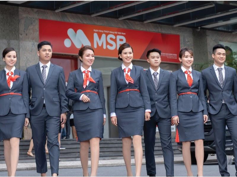 Mẫu đồng phục vest tại ngân hàngMSB