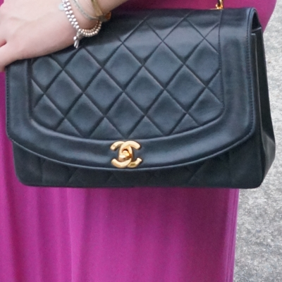 AwayFromTheBlue | Chanel vintage quilted lambskin flap bag