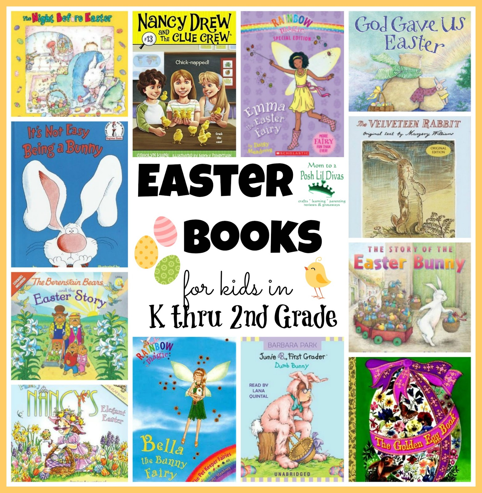 Mom To 2 Posh Lil Divas Easter Books For Kids In K Thru 2nd Grade