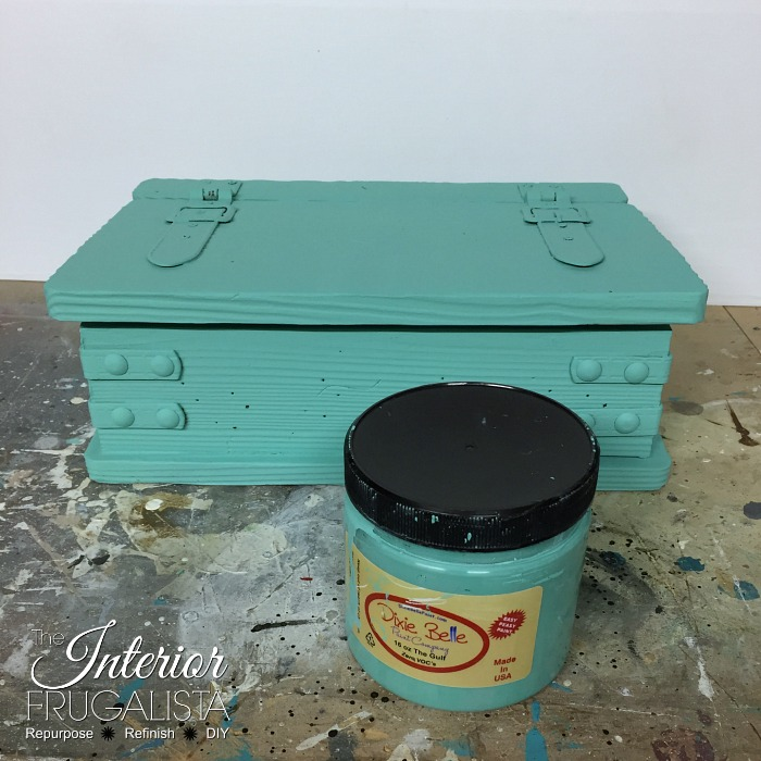 Destination Beach Wedding Card Box Painted Teal