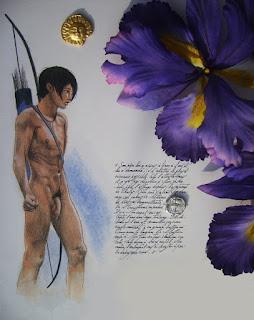 icare,prisonnier,labyrinthe,fleurs
