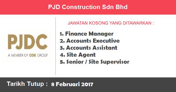 Jawatan Kosong di PJD Construction Sdn Bhd