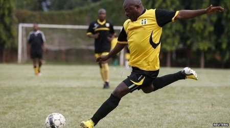 Obasanjo, Jonathan, Zuma, Nkurunziza - See as Top African Leaders Display Football Skills on the Pitch
