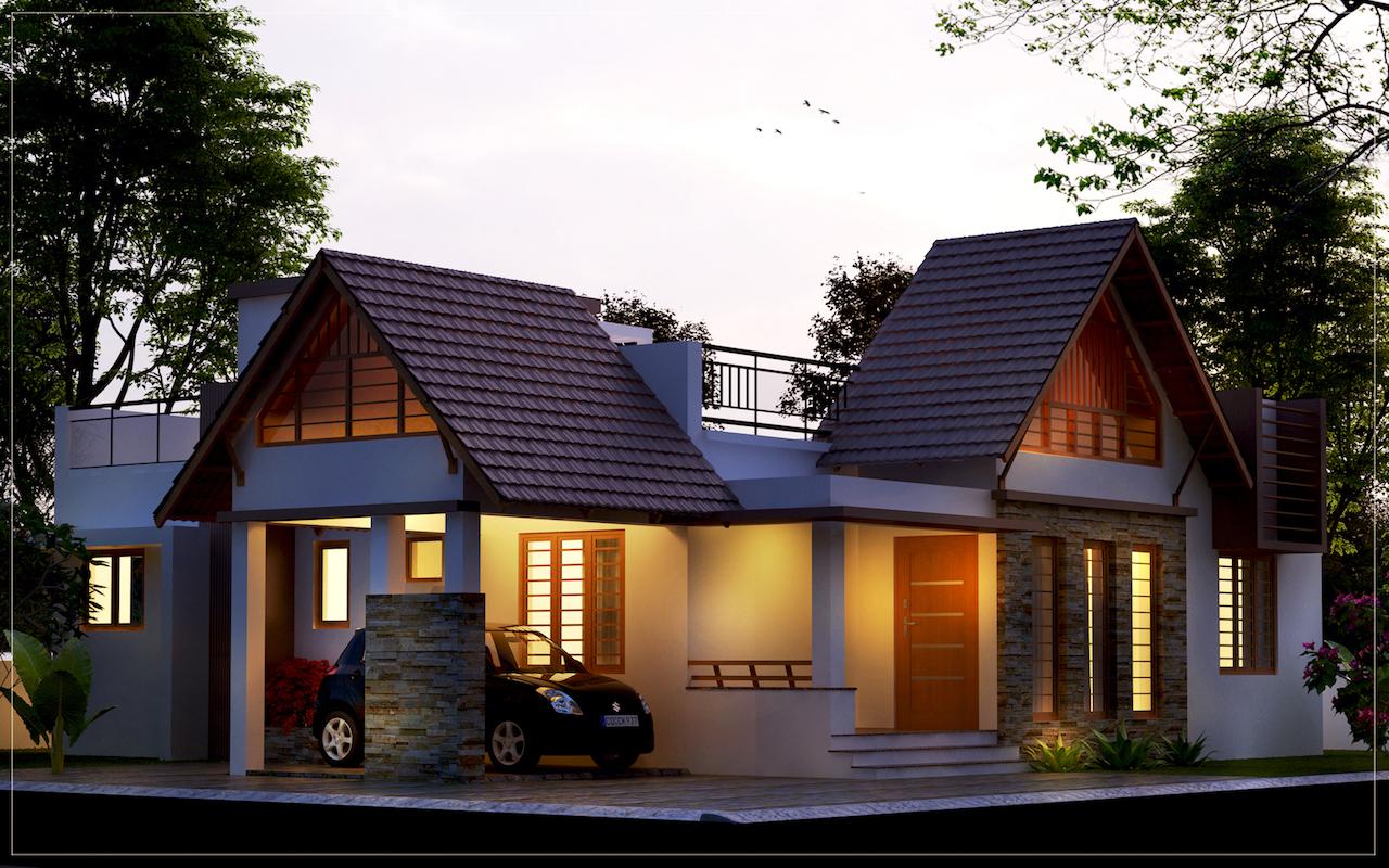 Kerala home design single floor low cost