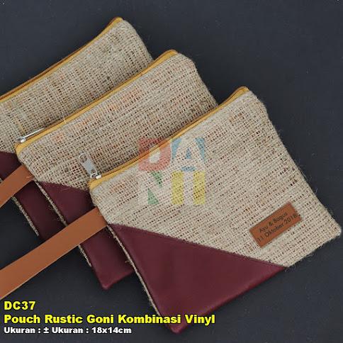Pouch Rustic Goni Kombinasi Vinyl