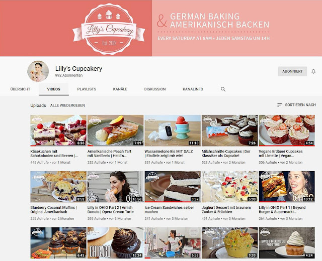 Lilly Kürtens YouTube Kanal Lilly's Cupcakery.