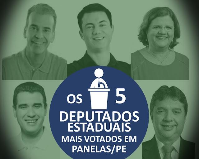 OS 5 DEPUTADOS ESTADUAIS MAIS VOTADOS em Panelas-PE