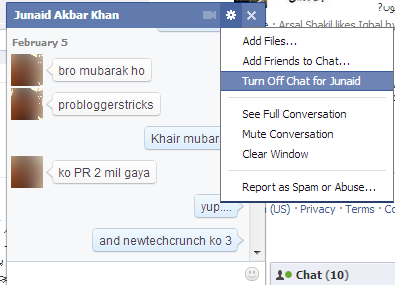facebook new chat box design